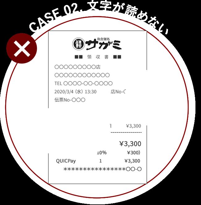 CASE 02. 文字が読めない
